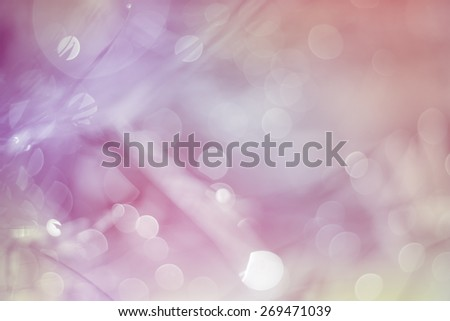 Defocused Bokeh, twinkling lights blurred pink bokeh abstract light spring forest background. Natural bokeh from leaf tree. Blur picture style.