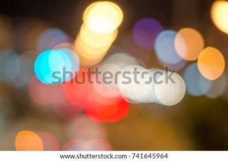 defocused bokey lights