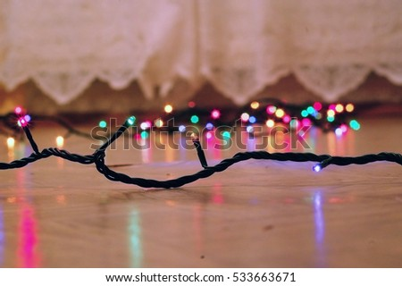 defocused christmas and new year lights backgroundcircular reflections of christmas lightsmagic holiday