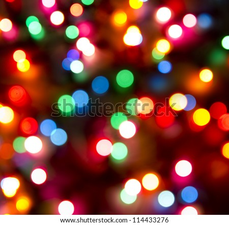 defocused christmas lights background