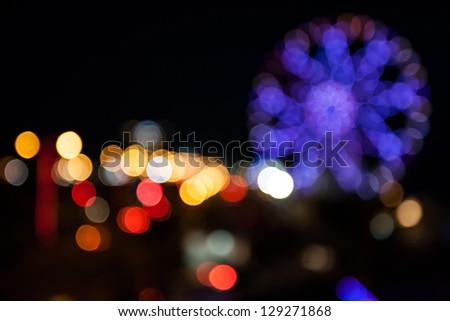 defocused circle light background