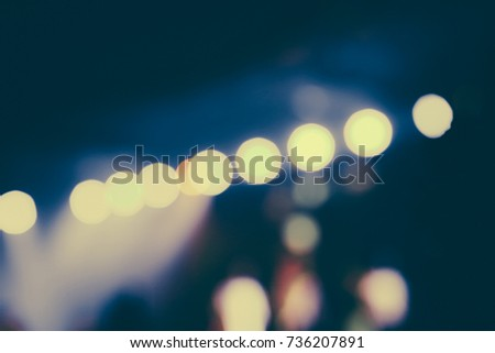 Defocused entertainment concert lighting on stage, blurred disco party and Concert Live. #736207891