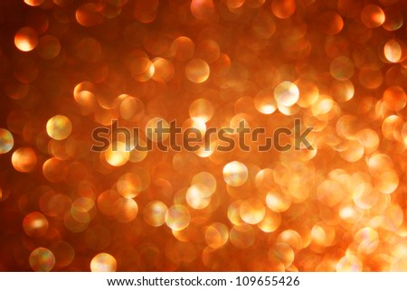 defocused golden lights background photo