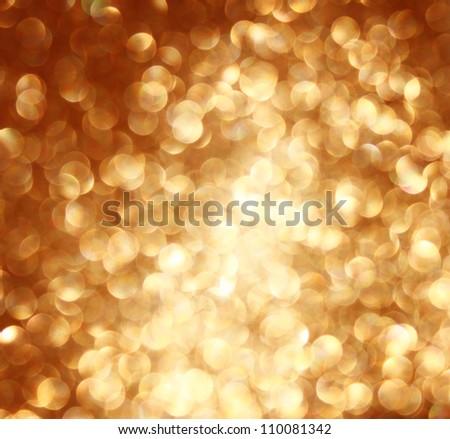 defocused golden lights background photo