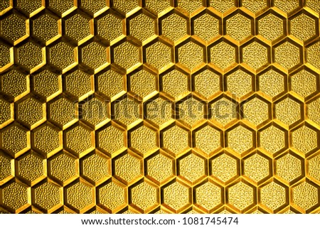 defocused image of  yellow color glass as a hive background image
