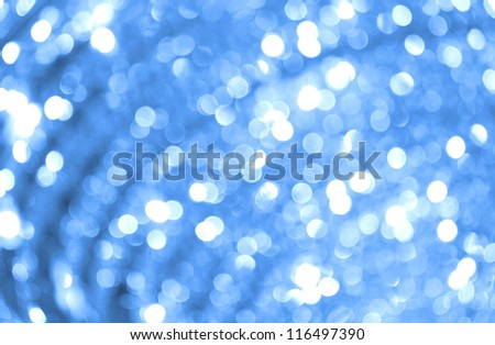Defocused lights blue abstract magic background. Natural photo bokeh patten.