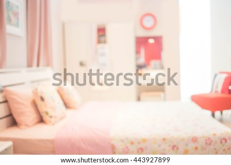 Defocused of  Bedroom Style ( Blur  Bedroom  for background ) #443927899