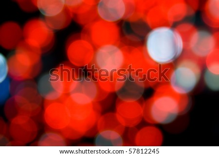 Defocused red lights. Can be used as a background.