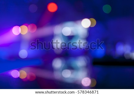 Defocused scene in the night club