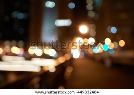 Defocused shot of Chicago at night. #449832484