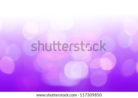 defocused with purple light background