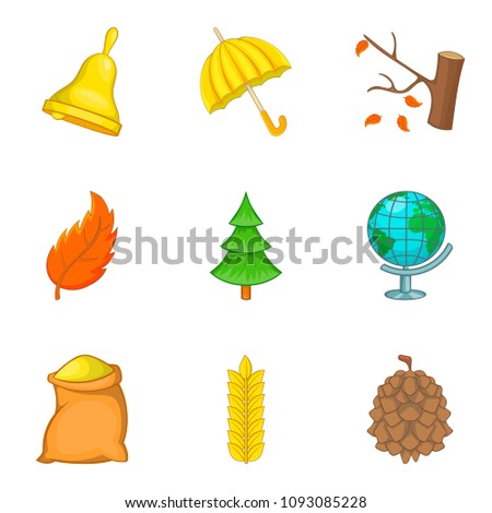 Defoliation icons set. Cartoon set of 9 defoliation icons for web isolated on white background