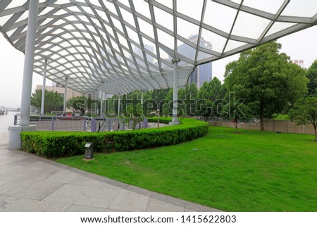Deformed Metal Frame Structures in Parks, Shanghai, China #1415622803