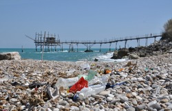 degradation and waste on the beach