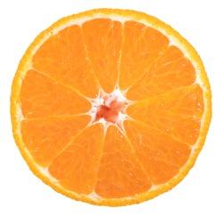 Dekopon orange or sumo mandarin tangerine isolated on white background, Orange fruit with orange slices on white background With clipping path.