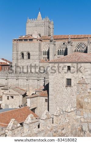 Del Salvador Cathedral at Avila, Spain
