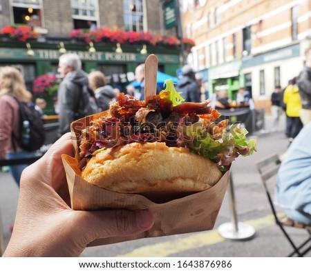 Delectable Duck Confit Sandwich, Borough Market London Сток-фото ©