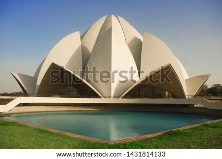 DELHI, INDIA – MARCH 21, 2011: The Lotus Temple, located in New Delhi, India