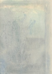 Delicate Abstract painting with neutral and subtle blue tones.