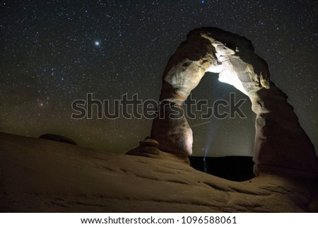 Delicate Arch in Arches National Park  #1096588061