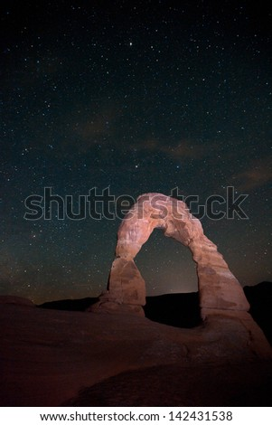 Delicate Arch in the Night