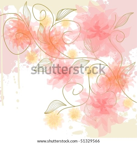 Delicate flower background, vector version also available in my portfolio - stock photo