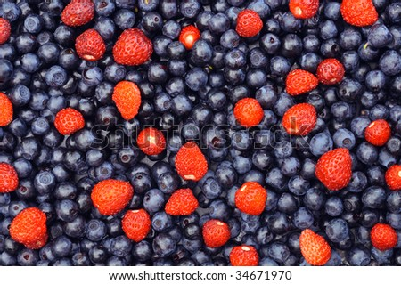 delicious  and beautiful berry mixture