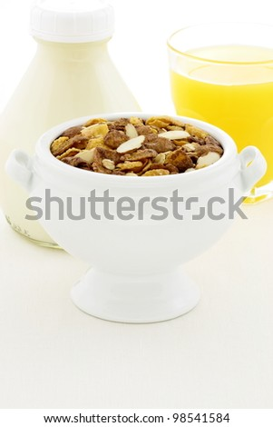 delicious and healthy chocolate muesli or granola, great nutritious food with lots of nuts and grains.