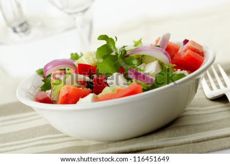 delicious and nutritious, a fresh Greek Style Salad