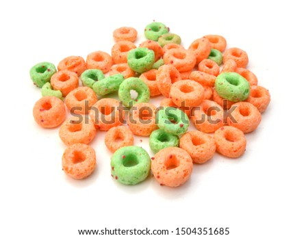 Delicious and nutritious fruit cereal loops flavorful, healthy and funny addition to kids breakfast