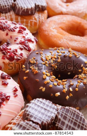 delicious and sweet donuts