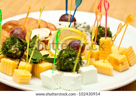 Delicious Appetizer Plate - stock photo