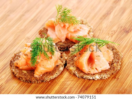 delicious appetizers with salmon