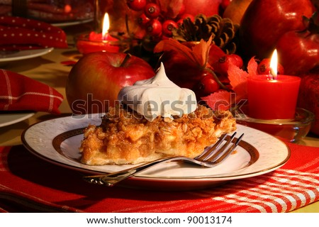 Delicious apple crumble pie for the holidays