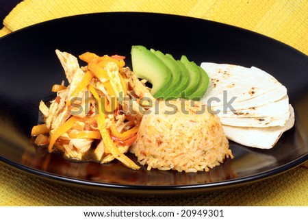 Delicious assorted mexican fajitas colorful exquisite gourmet food