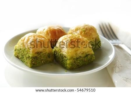 delicious baklava portion