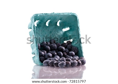 Delicious Blueberries Spilled from Carton
