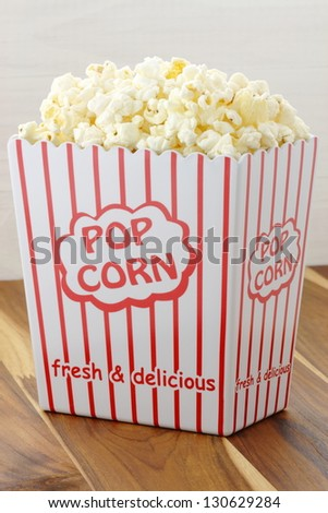 Delicious box of movie popcorn healthy and delicious snack for adults and kids alike.