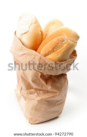delicious bread in the paper bag