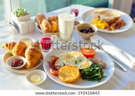 delicious breakfast for two at the luxury hotel #192416843