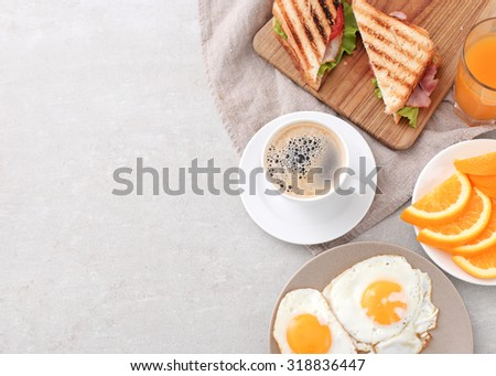 Delicious breakfast on the table #318836447