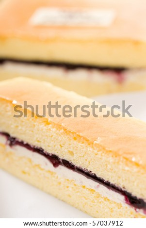 Delicious cake�The main ingredients are: cream, chocolate, nuts, flour, cheese, jam�Healthy and fresh!