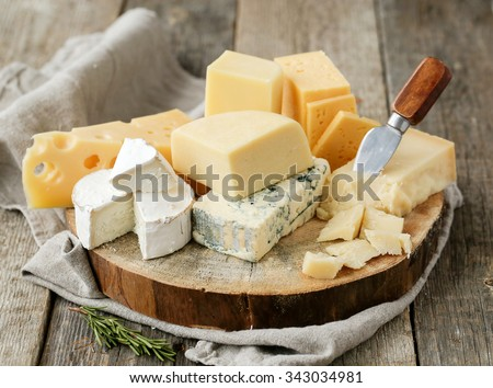 Shutterstock Delicious cheese on the table
