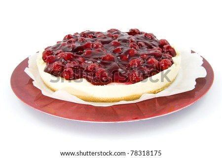 Delicious Cherry pie isolated on white background