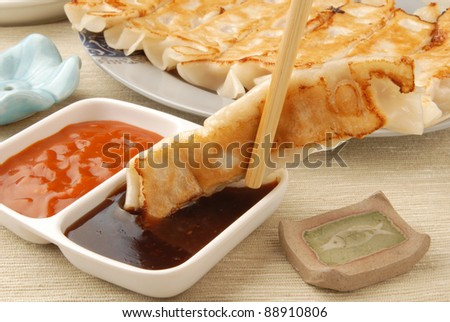 Delicious Chinese food - fried dumplings