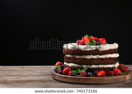 Beautiful Homemade Organic Chocolate Birthday Cake Recipe