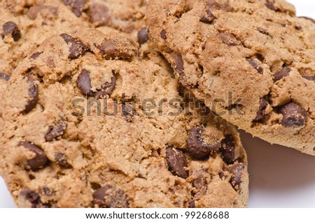 Delicious chocolate chip cookies.