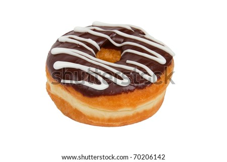Delicious Chocolate Frosted Donut on a White Background