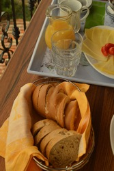 Delicious continental breakfast in Croatia