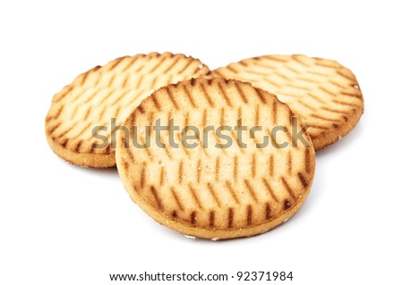 delicious cookies isolated on a white background